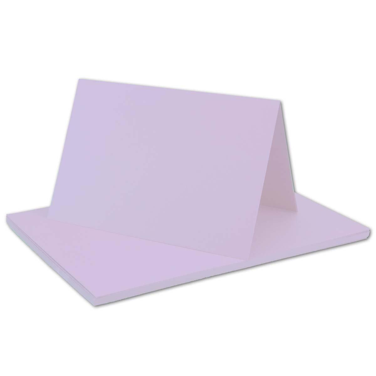 250x Falt-Karten DIN A6 Blanko Blanko Blanko Doppel-Karten in Hochweiß Kristallweiß -10,5 x 14,8 cm   Premium Qualität   FarbenFroh® B079VLTL2D | Attraktive Mode  f5e586