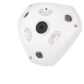 didseth 360 ° VR Cámara | Panorama Wireless WiFi IP Cámara Audio Video WiFi HD Ojo ...