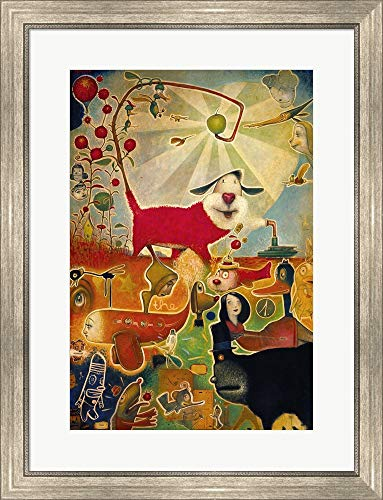 Apple Vine by Daniel Peacock Framed Art Print Wall Picture, Silver Scoop Frame, 23 x 30 inches