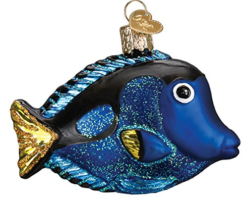 Old World Christmas Glass Blown Ornament Pacific Blue Tang
