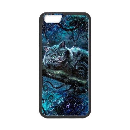 Fayruz- Personalized Protective Hard Textured Rubber Coated Cell Phone Case Cover Compatible with iPhone 6 & iPhone 6S - Alice in Wonderland Cheshire Cat F-i5G693