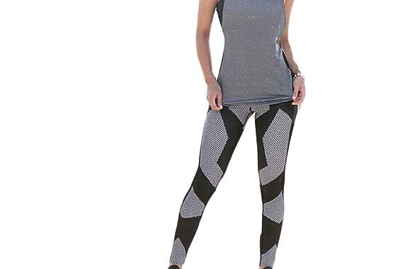 beafcb302d48 LinkShow Women Seamless Solid Print Scale Mermaid Hipster Leggings Yoga Pants  Black S