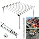 Wakandia MINI POCKET STAINLESS STEEL CAMPER BBQ GRILL