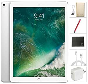 Apple iPad Pro 12.9 inch Wifi, 2017 model - 256GB Silver + USA Warehouses Accessories Bundle MP6H2LL/A