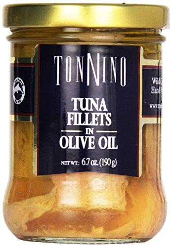 (Tonnino Yellowfin Tuna Fillets in Olive Oil 6.7 Oz. Jar)