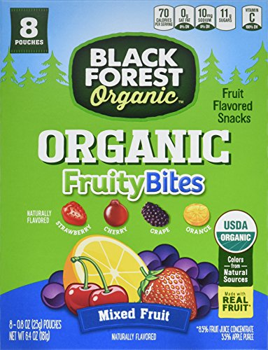 Black Forest Organic Fruity Bites Mixed Fruit Snacks, Assorted Flavors, 0.8 Ounce Bag, 64 (Black Forest Fruit Snacks Ingredients)