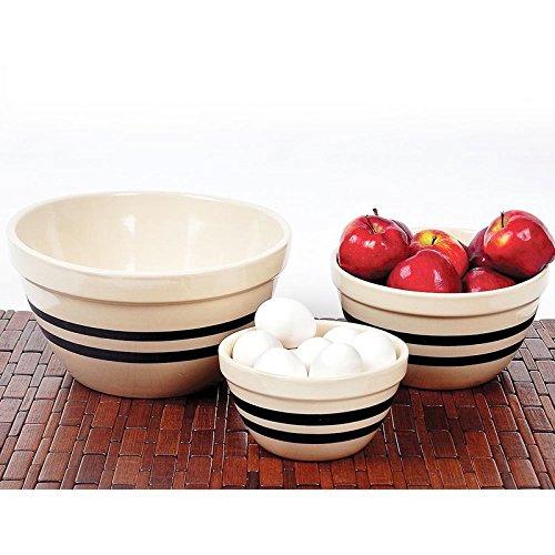 Stoneware Bowl Set Mixing - Ohio Stoneware Shoulder Bowls - Set of 3 Sizes