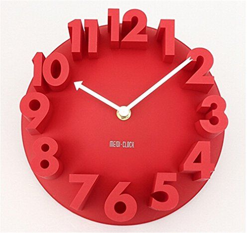 liveleafa 4 Colors Excellent 3D Home Decor Fashion Modern Art Decorative Dome Round Wall Clock Watch Bell -