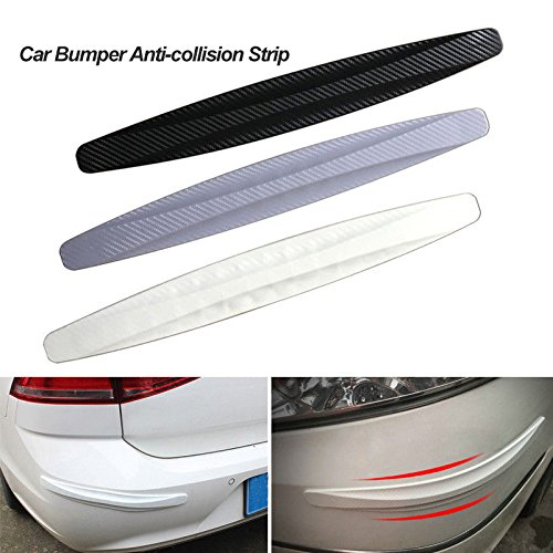 2PCS Auto Car Bumper Guard Protection Anti-rub Edge Lip Car Anti-collision Sticker Carbon Fiber Car Bumper -