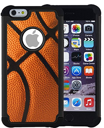 Corpcase - Hybrid Case for iPhone 6 Plus / iPhone 6S Plus - Basketball / Unique Case With Great Protection