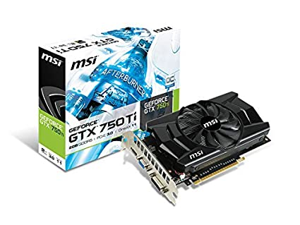 MSI N750TI-2GD5/OC GeForce GTX 750 Ti 2GB GDDR5 - Tarjeta gráfica (GeForce GTX 750 Ti, 2 GB, GDDR5, 128 bit, 2560 x 1600 Pixeles, PCI Express 3.0)