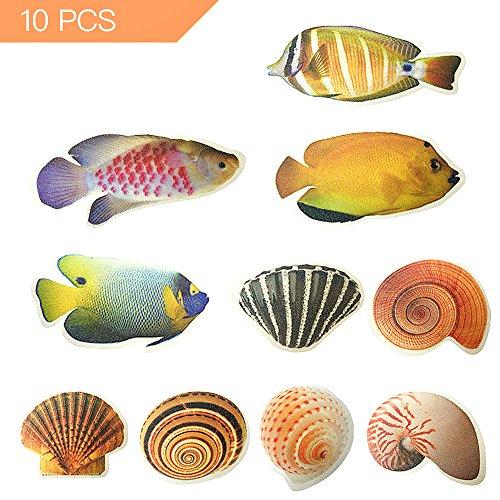 DomeStar 비 슬립 욕조 스티커, 10PCS 바다 생물 크리 에이 티브..