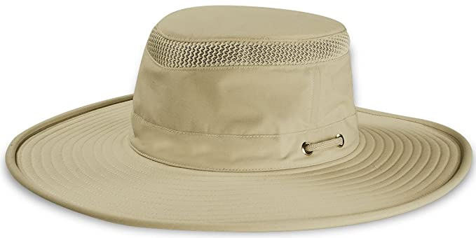 f1ba76f5 Image Unavailable. Image not available for. Color: Tilley Endurables Unisex  Airflo Wide Brim Khaki/Olive 7 5/8