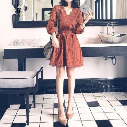 Les Petits Brown Frais de Robe Femmes Robe MiGMV Robe Vacances Dentelle XL Robes de La Long YxqXw0ZC