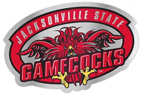 Jacksonville State Gamecocks Auto Badge Decal, Hard Thin Plastic, 4.75x2.2 inches