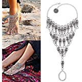 Gypsy lady Silver Ankle Chain Anklet Bracelet Foot Jewelry Sandal Beach Enthic NiceShopping