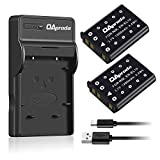OAproda EN-EL10 Battery (2 Pack) and Ultra Slim Micro USB Charger for Nikon ENEL10,Coolpix S200 / S500 / S510 / S570 / S700 / S600 / S520 / S210 / S60 / S80 /S230 / S220 / S4000 /S3000,MH-63 Charger