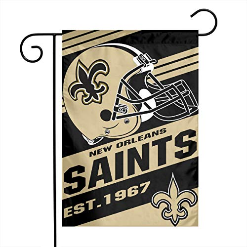 Dalean New Orleans Saints Double-Sided Printed Garden Flag, Weatherproof, Best Party Yard and Home Outdoor Decor - 12x18 Inches