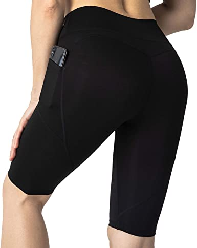Women/'s High Waist Yoga Shorts Workout Running Athletic with Pockets Yoga Pants