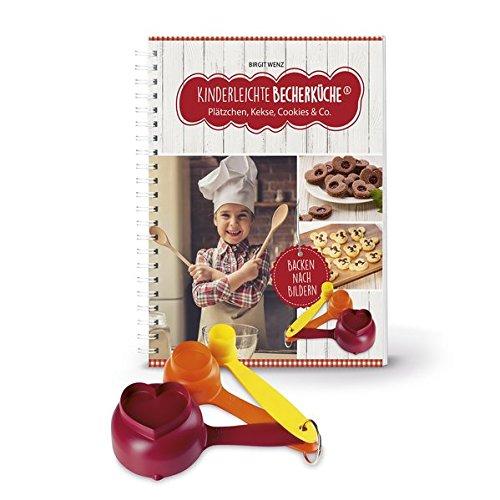 Kinderleichte Becherküche - Plätzchen, Kekse, Cookies & Co. (Band 3): Backset inkl. 3-teiliges Messbecher-Set
