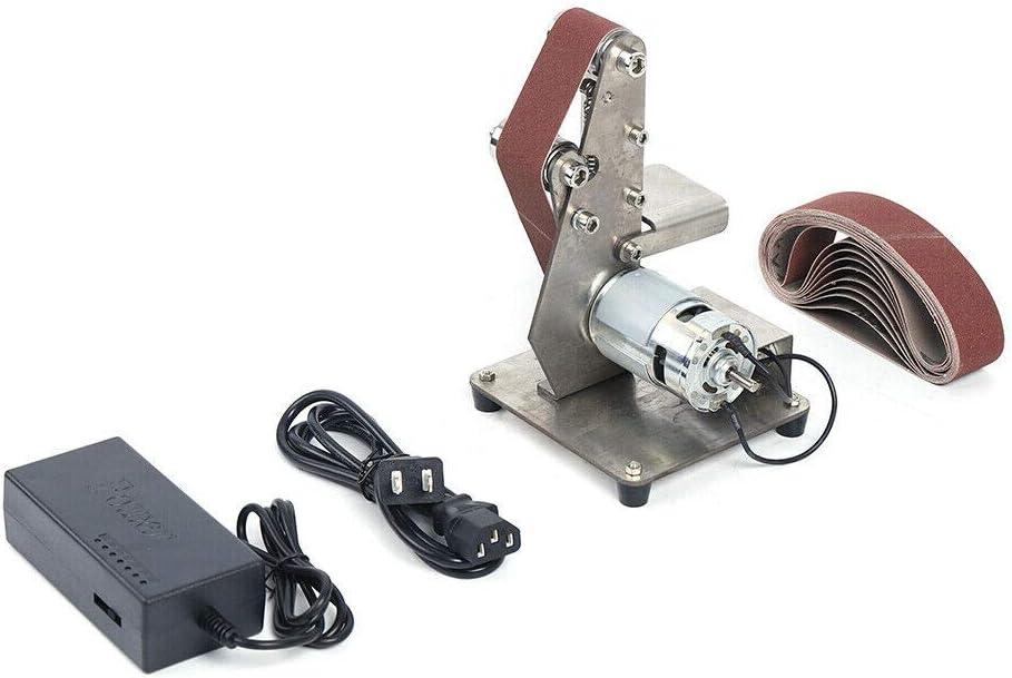 DENESTUS Mini Belt Sander Electric Bench Polishing Kits Grinding Machine Polisher Grinder and Diy New Tools Polishing Power Sander