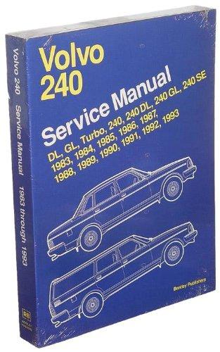 amazon com bentley w0133 1621091 bnt paper repair manual volvo 240 rh amazon com 97 Volvo 960 Repair Manual 1997 Volvo 960 Repair Manual