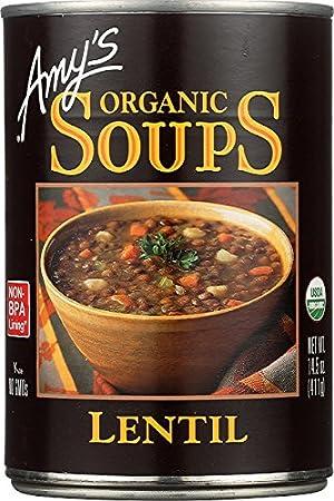 Amy's Organic Lentil Soup, Non GMO, USDA Organic, Vegan, 14.5-Ounce