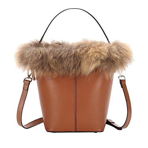 Cross Originality Design Genuine Shoulder Vintage Bag Women Brown Leather Bag For xqwwnT