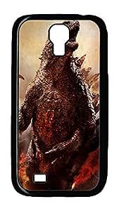 Samsung Galaxy S4 Case,Customize Ultra Slim Godzilla Hard Plastic PC Blcak Case Bumper Cover for S4