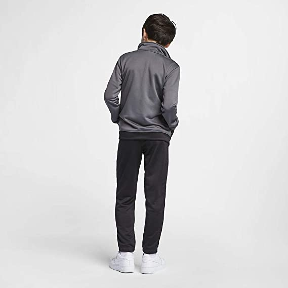 Nike Poly - Chandal, Niños, Gris (Dark grey/Black/White), XS ...