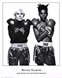 (24x30) Michael Halsband Andy Warhol and Jean Michel Basquiat Art Print Poster