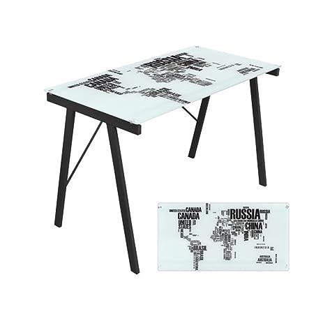 Amazon lumisource world map office desk black kitchen dining lumisource world map office desk black gumiabroncs Choice Image