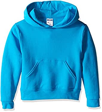 Jerzees Youth Pullover Hood, California Blue, Small