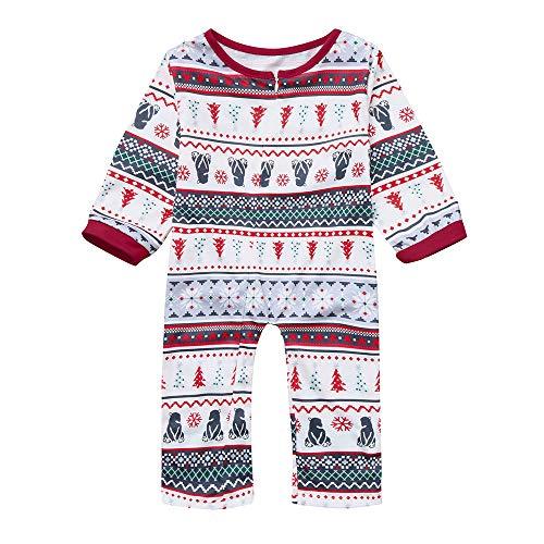 Franterd Christmas Family Matching Pajamas Set Xmas Snowman Tops + Strip Tree Pants Home Warm Sleepwear Merry Christmas -