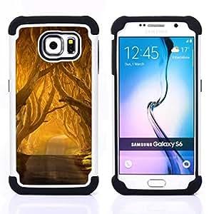 Pulsar ( Summer Sun Freedom Road Nature ) Samsung Galaxy S6 / SM-G920 SM-G920 híbrida Heavy Duty Impact pesado deber de protección a los choques caso Carcasa de parachoques [Ne