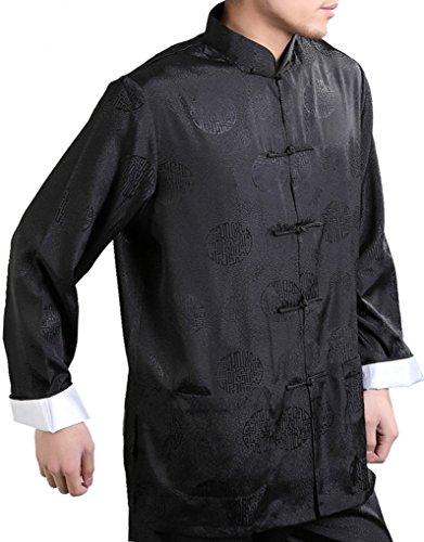 Enter the Dragon Chinese Clothing Shirt Plus Free Matching Pants (Medium, Black)