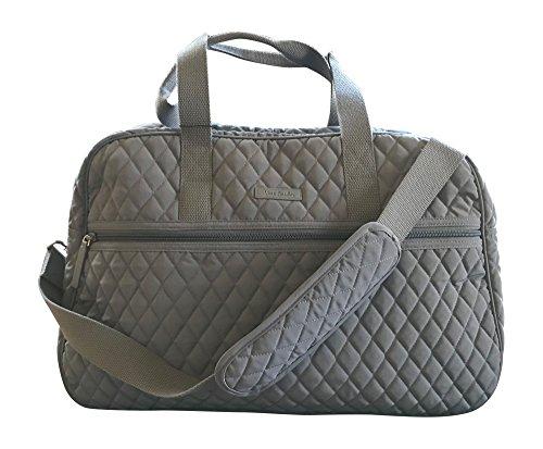 Vera Bradley Medium Traveler Bag, Carbon Gray by Vera Bradley