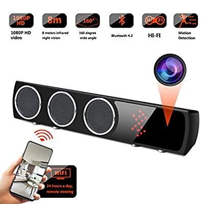WiFi Spy Camera Bluetooth Speaker - Mini Spy Camera 1080p 160 Degrees Wide Angle - Hidden Spy Camera Motion Detection for House from GSmade