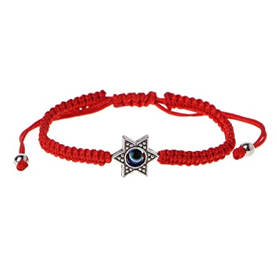 XISAOK Lucky Bracelets,Crafts Handmade Kabbalah Red String Bracelets, Good for Wealth and Love, Hamsa Bracelets Blue Evil Eye Fatima Hand Jewelry: Home & Kitchen