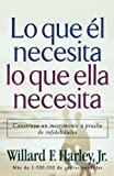 img - for Lo Que El Necesita, Lo Que Ella Necesita/ His Needs, Her Needs: Construye un matrimonio a prueba de infidelidades/ Building an Affair-Proof Marriage (Spanish Edition) book / textbook / text book
