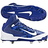 Nike Mens Camo Air Huarache Pro MId Camo Metal Cleats 11 US Blue/White