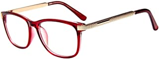 Square Frame Plain Glasses Clear Lens Retro Non-prescription Eye Glasses for Unisex
