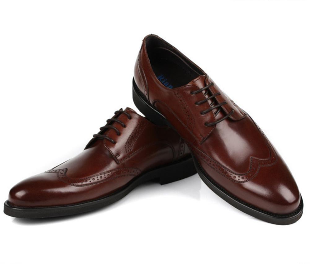 XIE Männer Leder Formal Geschäft Hochzeit Schwarz Leder Männer Schuhe Stier Handarbeit Oxford Schnüren Braun Zum Männer Party Größe 38-44 - 0ee54c