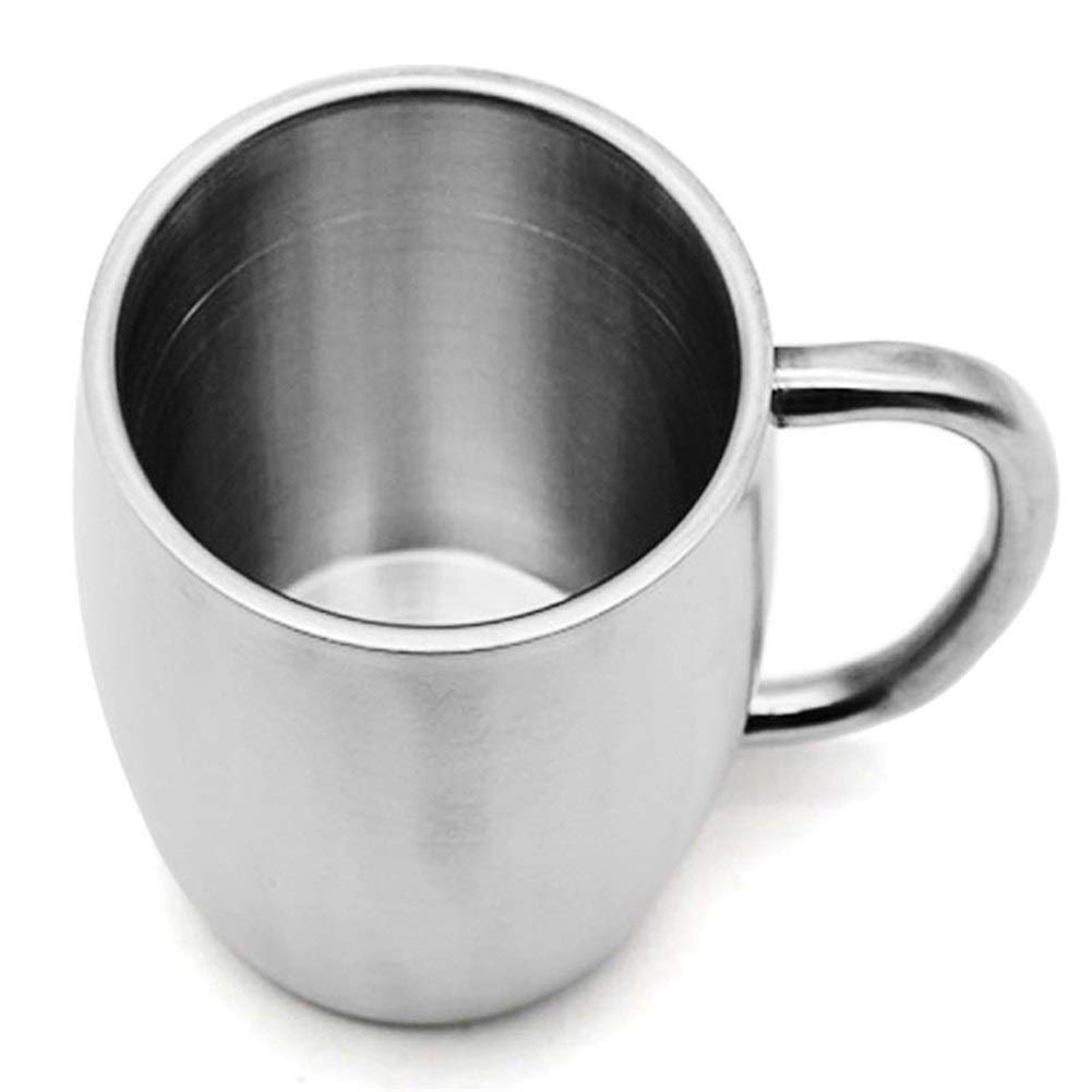 Tazza da caff/è Tazza da caff/è in acciaio inox da 400 ml Tazza da birra da caff/è Tazza da caff/è a doppia parete Viaggiare Tazze sportive da campeggio allaperto per bar di casa
