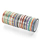 Agutape 48 Rolls Washi Tape Set,Foil Gold Skinny Decorative Masking Washi Tapes,3MM Wide DIY Masking Tape