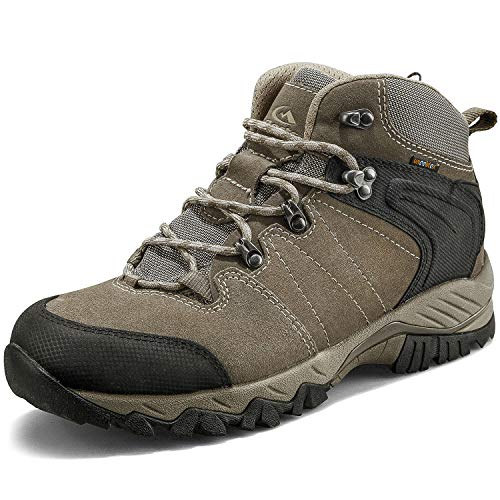 affordable Clorts Men's Classic Hiking Boots Waterproof Suede Leather Lightweight Hiking Shoes Brown US Men Size 10 Medium Width