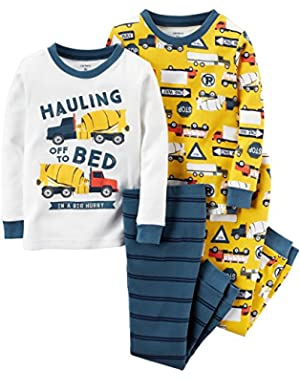 Carter's Baby Boys' 4-Piece Snug Fit Cotton Pajamas