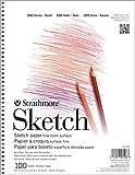 "Strathmore STR-025-508 100 Sheet Sketch Pad, 8.875 by 11"""