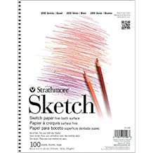"""Strathmore 25-515 200 Series Sketch Pad, 5.5""""x8.5"""" Wire Bound, 100 Sheets"""
