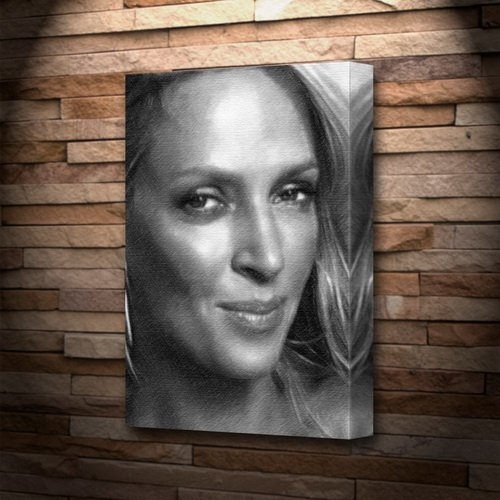 UMA THURMAN - Canvas Print (LARGE A3 - Signed by the Artist) #js001 -